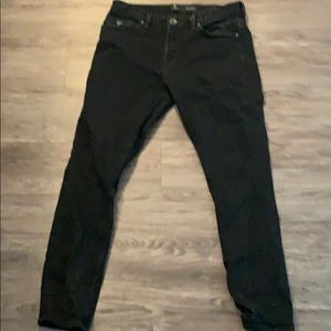 Guess men's black jeans W33 L32. Slim tapered.